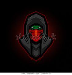 ninja hoodie e sport logo gaming mascot - Buy this stock vector and explore similar vectors at Adobe Stock Logo Esport, Badge Logo, Team Logo, Logo Gaming, Logo Inspiration, Cyber Ninja, Martial, Shadow Logo, Wolf Silhouette