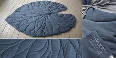Leaf Rugs from Vivid Grey. Genius. DARK WATER LILY