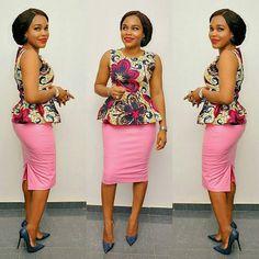 Simple Ankara Styles Top and Skirt Combinations - DeZango Fashion Zone
