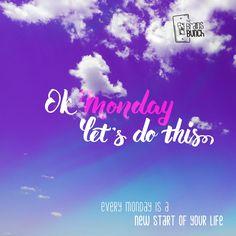 New beginning. New perspective. Come with us and have a #HappyMonday. | Nuevo comienzo. Nuevas perspectivas. Ven con nosotros y ten un #FelizLunes. #TheBunchOfSages  #entrepreneur #creative #success #quote #inspiration