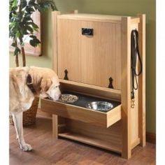 feeding station and pet supply storage