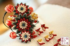 Hair accessory made with silk fabric by HIMEKO