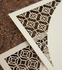 Luv Inspiration: Chinese Lattice Laser Wedding Invitation