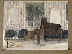 """MusicArt""""SALA de MÚSICA"""" (ca.1870) Eduardo Rosales Gallinas (1836-1873) fue un pintor purista del siglo XIX español. Está enterrado en el Panteón de Hombres Ilustres de la Asociación de Escritores y Artistas Españoles, en la Sacramental de San Justo (Madrid)."""