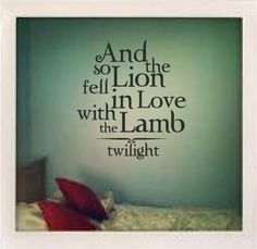 Lion Fell in Love twilight Wall Decal by dunningvinyl on Etsy, $24.99