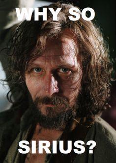 Sirius Black is such a joker