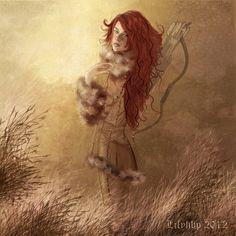 Kissed by Fire: Beautiful Ygritte fan art by Veronica-Art