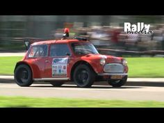 Very fast rally Mini Cooper during the Amsterdam Rallysprint prepared and driven by Frans Verbaas. Red Mini Cooper, Mini Coopers, Rally Car, Classic Mini, Racing, Minis, Brave, Amsterdam, Awesome