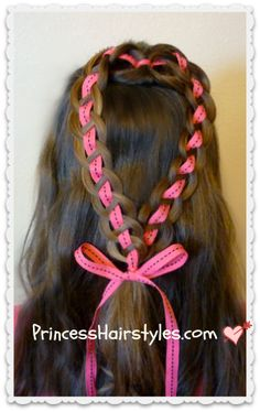 ribbon heart hairstyle