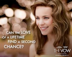 Rachel McAdams is absolutely adorable in The Vow! And i am pinning it cause i want this hair color so i can show it to Brigid my hairdresser so she knows what i want.