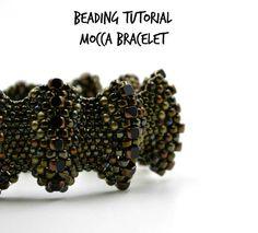 Peyote bracelet pattern Flat cellini spiral Seed bead by ensaga