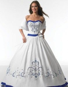 White And Blue Wedding Gowns - The Wedding SpecialistsThe Wedding Specialists