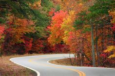 Road to Fort Mountain State Park in Autumn
