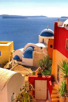 Colors of Oia-Santorini-Gŕeece