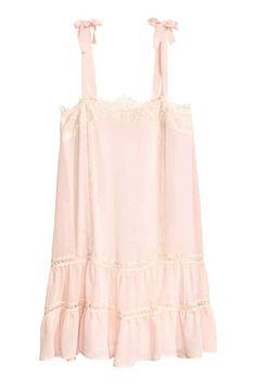 Robe avec dentelle - Rose poudré - FEMME | H&M FR