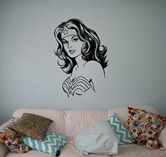 Wonder Woman Wall Decal Home Interior Comics Superhero Vinyl Sticker Removable Wall Decor Art Mural Housewares Design 11(wwm)