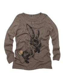 Joe Browns Snuggle Bunny Sweater This fine gauge knit's just the thing to slip into on a cool day - and what about the bunny?! His fabulous faux fur tail can't fail to raise a smile! It's all quite appealing, actually.
