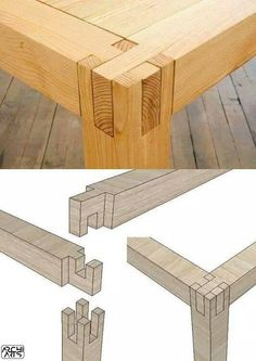 Ted's Woodworking Plans - c Unir madera sin tornillos ni clavos Get A Lifetime Of Project Ideas & Inspiration! Step By Step Woodworking Plans Woodworking Joints, Woodworking Projects Diy, Woodworking Furniture, Teds Woodworking, Woodworking Classes, Woodworking Techniques, Woodworking Quotes, Woodworking Organization, Woodworking Jigsaw