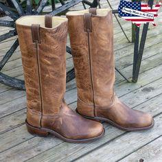 """Abilene Shooter Boots - Old West Shooter Boots med bred firkantetå, 16"""" høyt skaft og 1"""" høy westernhæl med spore-plass. Den stilige robuste støvelen er laget av oljebehandlet lær, er fullfôret og produsert i USA. Cowboy Boots, Shoes, Fashion, Moda, Zapatos, Shoes Outlet, Fashion Styles, Shoe, Western Boot"""