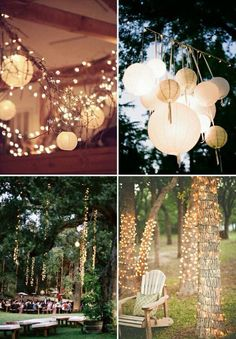 Outdoor lights, cute, romantic