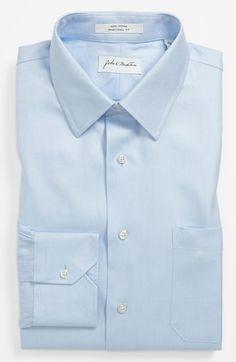John W. Nordstrom® Traditional Fit Dress Shirt   Nordstrom   nice subtle diagonal pattern