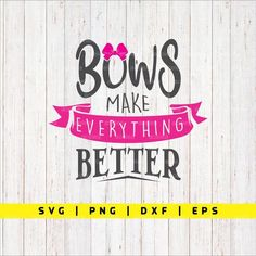 Bow Quotes, Bow Board, Everything Is Awesome, Art Auction, How To Make Bows, Cricut, Handmade Gifts, Boards, Silhouette