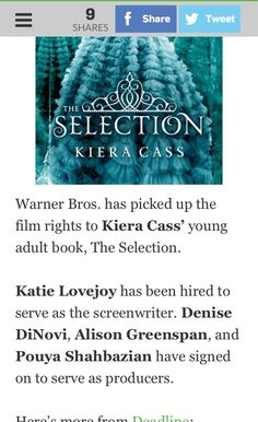 *glares at Warner Bros* if you mess this movie up, you gon be sorry 😑😑😑 The Selection Movie, The Selection Series Books, Best Series, Tv Series, Kiera Cass Books, Maxon Schreave, Forever Book, Making A Movie, Happy Dance
