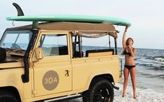 Surfing with a Land Rover