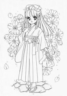 Marvelous Learn To Draw Manga Ideas. Exquisite Learn To Draw Manga Ideas. Vintage Coloring Books, Coloring Book Art, Cute Coloring Pages, Coloring Pages For Girls, Coloring Sheets, Kawaii Doodles, Princess Coloring, Digital Stamps, Colorful Pictures