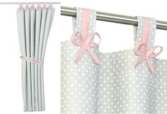 Cute Grey Pink Blackout Curtains for Baby Nursery-Blush Pink Gray Drapes for Baby Girl Room -Bow Theme Child Curtain Panels-Custom Made - Best Baby Girl Nursery ideas Girls Bedroom Curtains, Kids Curtains, Gray Curtains, Nursery Curtains, Baby Girl Nursery Pink And Grey, Baby Girl Nursey, Baby Room, Pink Grey, Blush Pink