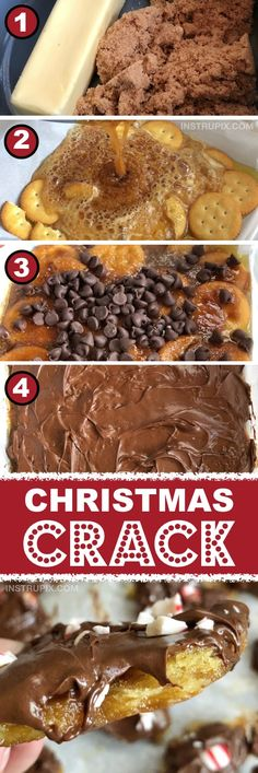 "Chocolate Toffee ""Crack"" (The BEST dessert idea for a party!) The BEST dessert recipe for a crowd! Just 4 ingredients! No egg! This is my favorite party dessert idea and holiday treat, ever. Mini Desserts, Desserts Nutella, Desserts For A Crowd, Köstliche Desserts, Food For A Crowd, Best Dessert Recipes, Candy Recipes, Delicious Desserts, Recipes For A Crowd"
