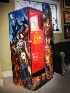 airbrushed pirates of the caribbean fridge painted by mike lavallee of killer paint www. Black Bedroom Furniture Sets. Home Design Ideas