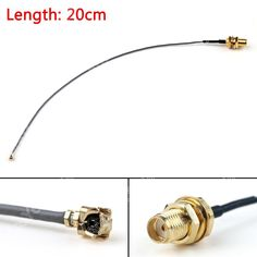 販売20センチケーブルsmaメスバルクヘッドジャックにipx u. fl pciカード1.13ミリメートルピグテール8in rf高品質jackplugワイヤーコネクタ