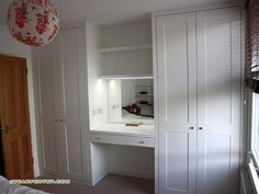 24 Trendy bedroom wardrobe with dressing table Alcove Wardrobe, Bedroom Built In Wardrobe, Bedroom Closet Design, Wardrobe Storage, Bedroom Storage, Wardrobe Ideas, Tv In Wardrobe, Closet Ideas, Bedroom Sets