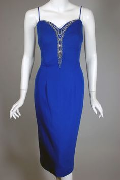 Royal blue Lilli Diamond vintage dress