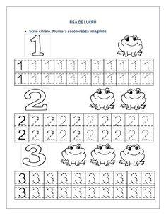 FISE cu cifre pentru clasa pregatitoare - Cifre punctate / Recapitulare cifre | Fise de lucru - gradinita: