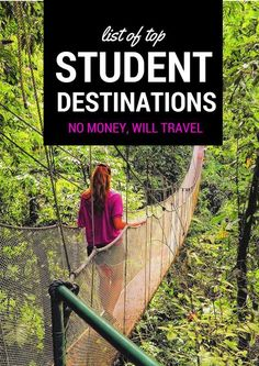 Top Student Travel Destinations from around the world that are budget friendly, safe, and full of exciting new adventures.