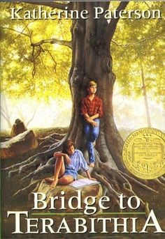 Bridge to Terabithia. We saw the movie before we read the book. The movie is very true to the book. Sad, sad story, but I really enjoyed all of the imagination. <3<3<3<3
