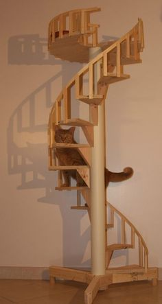 Spiral Cat Trees/Stairs - Real Cabinet-Grade Pine, handmade in USA in Pet Supplies | eBay