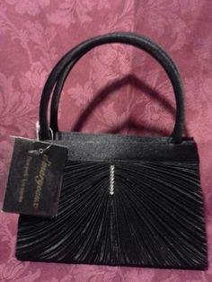 NWT! d'margeaux  Black Evening Formal Cocktail Bag Satin Rhinestones #dmargeaux #EveningBag #Black #Bag
