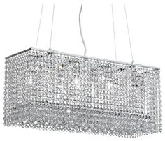Modern Rectangular Chandeliers rectangular chandelier with square crystals | modern crystal