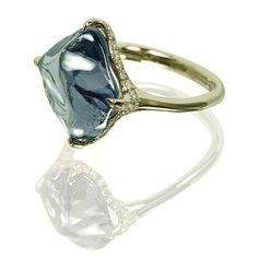 Contemporary. Gold, Grey Spinel and Diamond Ring, Vladyslav Yavorskyy, IVY.