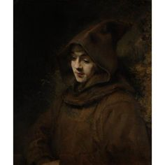 Rembrandt's Son Titus in a Monk's Habit by Rembrandt Harmensz. van Rijn, Museum of the Netherlands Rembrandt portrayed his son Titus with downcast eyes and wearing a Franciscan habit. Caravaggio, Michelangelo, List Of Paintings, Rembrandt Paintings, Rembrandt Portrait, Rembrandt Art, Oil Portrait, Tableaux Vivants, Art Occidental