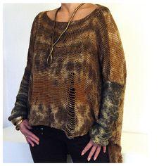 Tye Dye Cotton Sweater