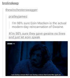 *dying of laughter Merlin Funny, Merlin Memes, Merlin Cast, Gwaine Merlin, Merlin Fandom, Merlin And Arthur, Destiny, Comic, Fandoms