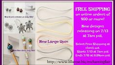 New releases and a free shipping offer!  Starting today at 9am CST- on online orders for 65 hours  from Lilla Rose!  Love the new hair sticks and U-pins!  http://www.lillarose.biz/enchantingflair