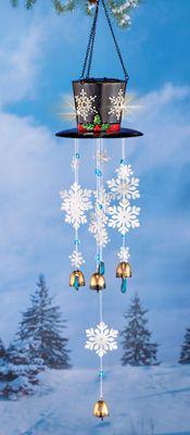 Snowman Hat Snowflake Dangler
