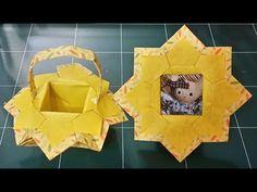 154.액자겸바구니.종이접기.종이공예origami.오월의장미 - YouTube