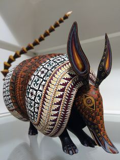 Armadillo Hand-carved and painted  www.soljaguar.com