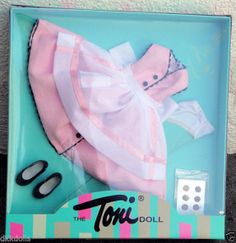 Effanbee 13 in. Clever Little Cookie Fashion Toni Doll Outfit Only, Tonner 2007 is offered on Ebay in a Buy-It-Now listing. This outfit will also fit the vintage Sweet Sue Sophisticate dolls.
